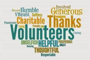 volunteer characteristics words in shape of heart