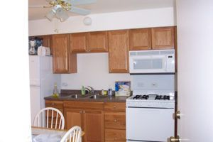 kitchen in transitional housing apartment